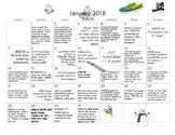 January 2018- Early Learning Calendar