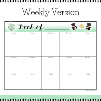 January 2018 Printable Monthly and Weekly Calendar FREEBIE