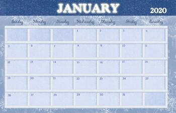 January 2019 Calendar - 11x17