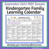 September 2021 FREE Family Learning Calendar
