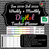 January 2019-July 2020 Weekly + Monthly Digital Teacher Pl