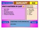 January 2020 Interactive Calendar/Lesson Planner-For any Class (Google Slides)