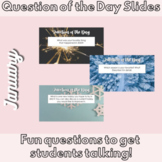 January 2021 New Years Question of the Day Slides After Winter Break Activity
