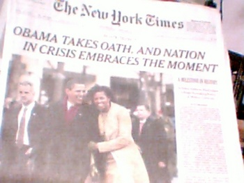 January 21, 2009 NYTimes newspaper - entire newspaper