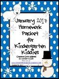 January 2017 Homework Packet for Kindergarten Kiddies