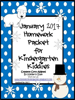 January 2017 Homework Packet for Kindergarten Kiddies