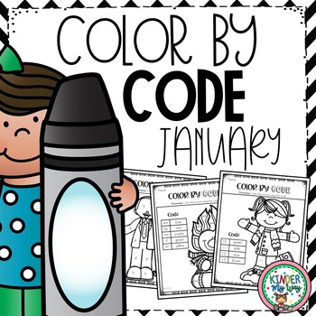 Color By Code Kindergarten Winter Coloring Pages