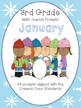 January 3rd Grade Common Core Math Journal Prompts