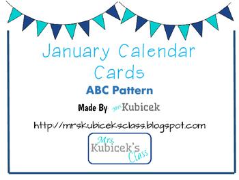 January ABC Calendar Cards