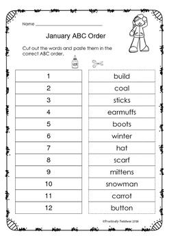 January - ABC Order