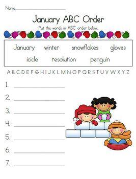January ABC Order Fun