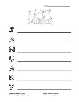 January Acrostic Poem