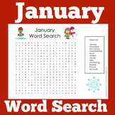 January Word Search | January Word Find | January Worksheet