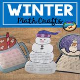 Winter Math Worksheets:  Math Craftivities