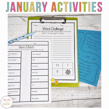 January Activity Pack