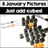 January Activity Unifix Cube Math