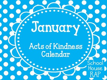 January Acts of Kindness Calendar