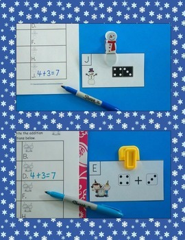 January Addition Centers Bundle (Sums of 0 to 10)