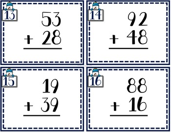 January Addition and Subtraction Computation (100 Task Cards)