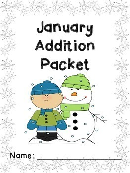 January Addition and Subtraction Worksheet Packets Bundle