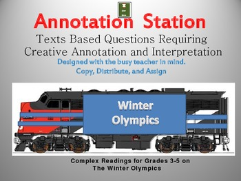 Annotation Station: Winter Olympics