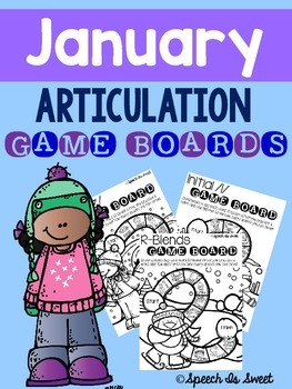 January Articulation Game Boards