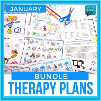 January Articulation & Language Therapy Plans & Materials