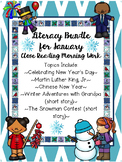 January {BUNDLE} Text Passages, Comprehension, and Writing