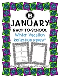 January Back-To-School Winter Vacation writing pages