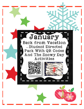 January - Back from Vacation Student Directed Packet
