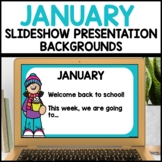 January Background Templates use with Google Slides or PPT