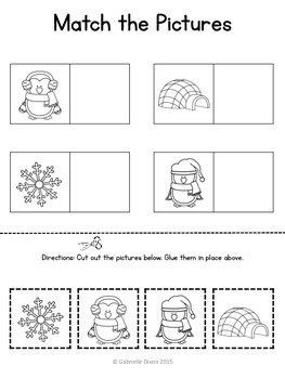 Winter Basic Skills Activity Pack for Students With Autism