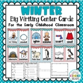 January Big Writing Center Cards: Winter Literacy Centers