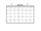 January Blank Calendar