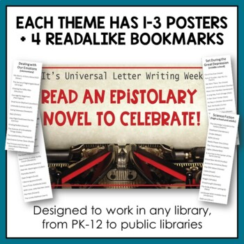 January Book Display Posters with Readalike Bookmarks