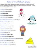 "January Book List- Unit ""Winter"""