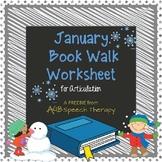 January Book Walk Worksheet