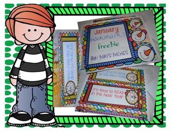 January Bookmark Freebie