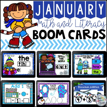 January Boom Cards for Math and Literacy