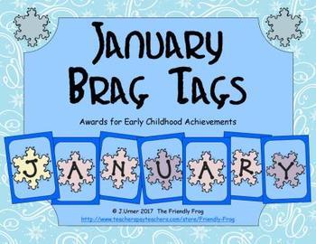 January Brag Tags