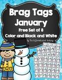Brag Tags January Free Set of 8