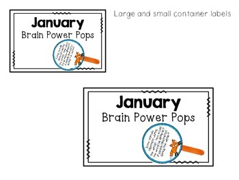 January Brain Power Pops