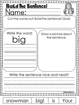 January Build the Sentence