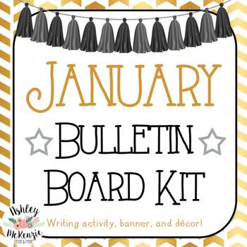January Bulletin Board Kit - New Years Theme