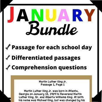 January Bundle-Day in History Differentiated Reading Passage Ongoing Assessment