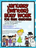 January Busy Work Pack for First Graders