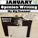 January OPINION: My Dream Writing for Grades 2-5 {Martin L