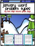January Word Problem Types