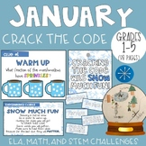 January CRACK THE CODE (Grades 1-5)