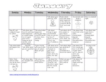 Free January Language Calendar